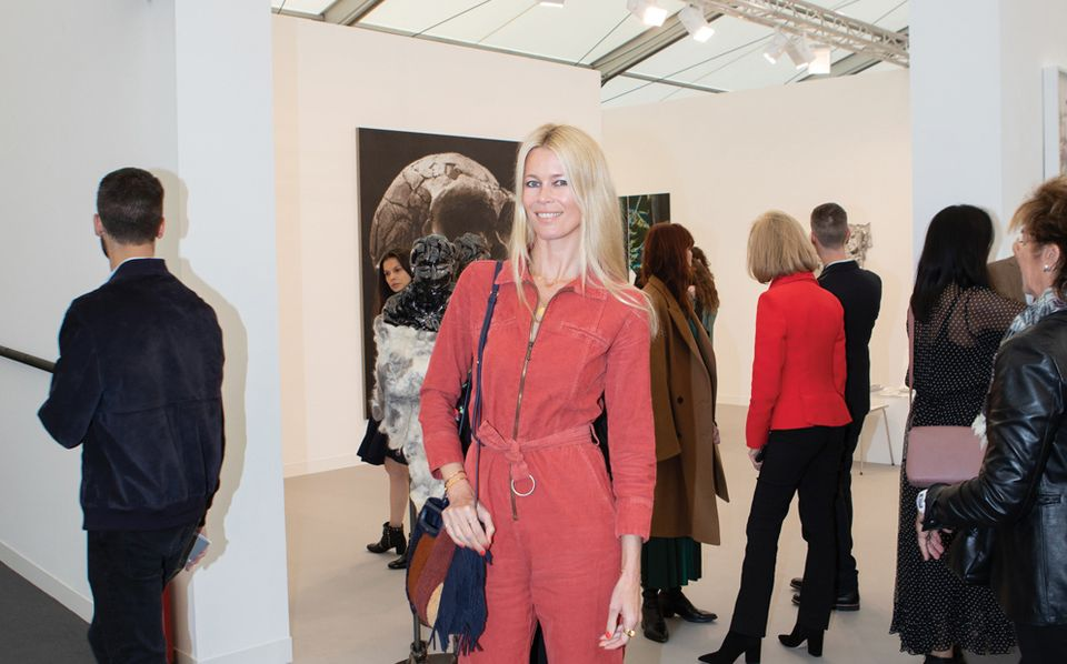 Claudia Schiffer at Frieze London's VIP preview