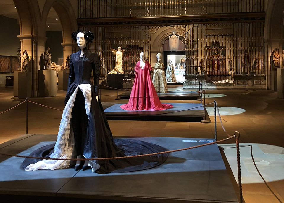 Installation of Heavenly Bodies: Fashion and the Catholic Imagination at the Met's Fifth Avenue building