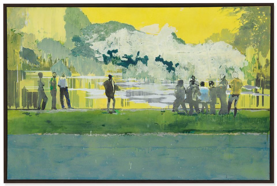Ball Watching IV by Hurvin Anderson, sold for £1.6m (£1.9m with fees)