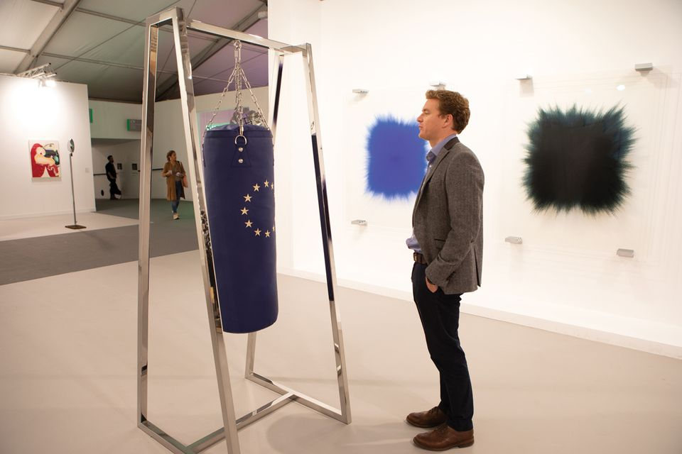 Picture your favourite politician as you pummel Elmgreen & Dragset's EU punchbag