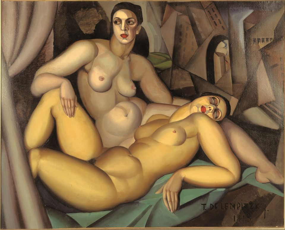 Tamara de Lempicka's Les  deux  amies (1923), which is in Modern Couples at the Barbican