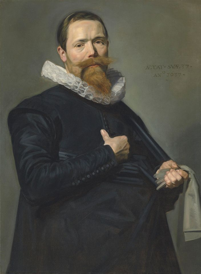 Portrait of a gentleman, aged 37, by Frans Hals