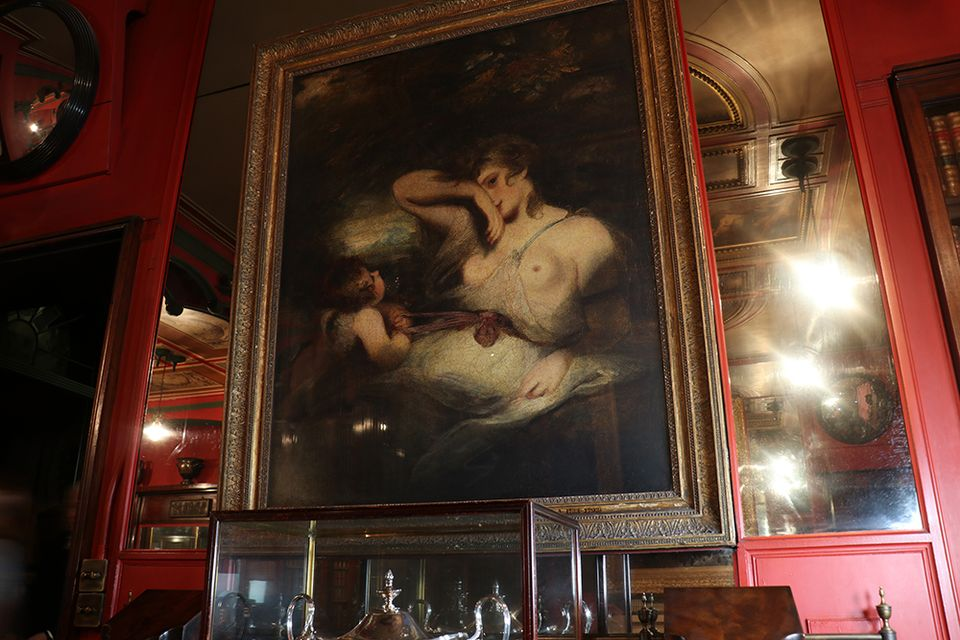 Sir Joshua Reynolds's The Snake in the Grass (1785) in the library/dining room of Sir John Soane's Museum