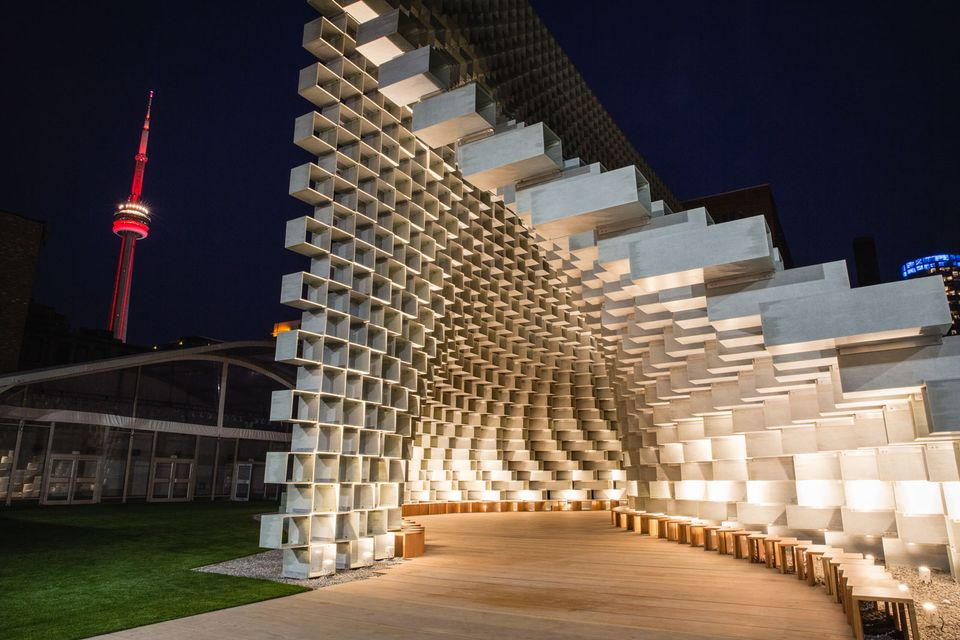 Unzipped, the 2016 Serpentine Pavilion by the Danish architect Bjarke Ingels, is now in Toronto