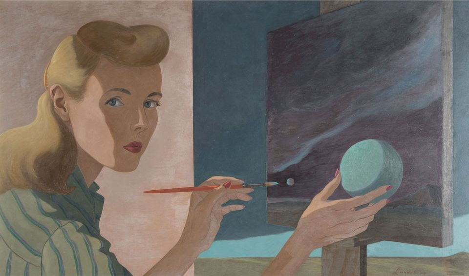 Artists of the 1930s and 40s respond to advances in science: Helen Lundeberg's Self Portrait (1944)
