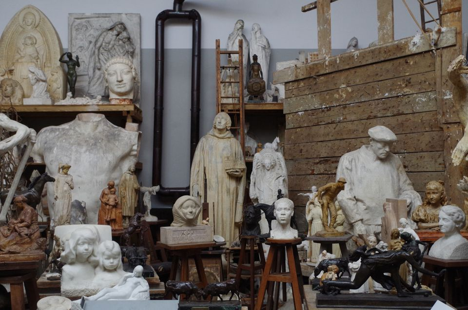 The reconstructed Paris studio of the sculptor Henri Bouchard (1875-1960) is a highlight of the new display