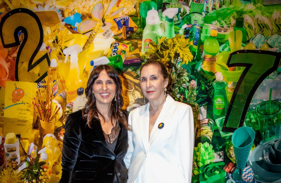 Curator Andrea Karnes with Laurie Simmons