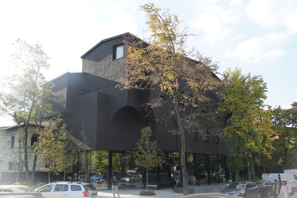 The Muzeul de Arta Recenta in Bucharest was designed as a ghostly silhouette of the original villa on the site, the home of the senior Communist official Ana Pauker