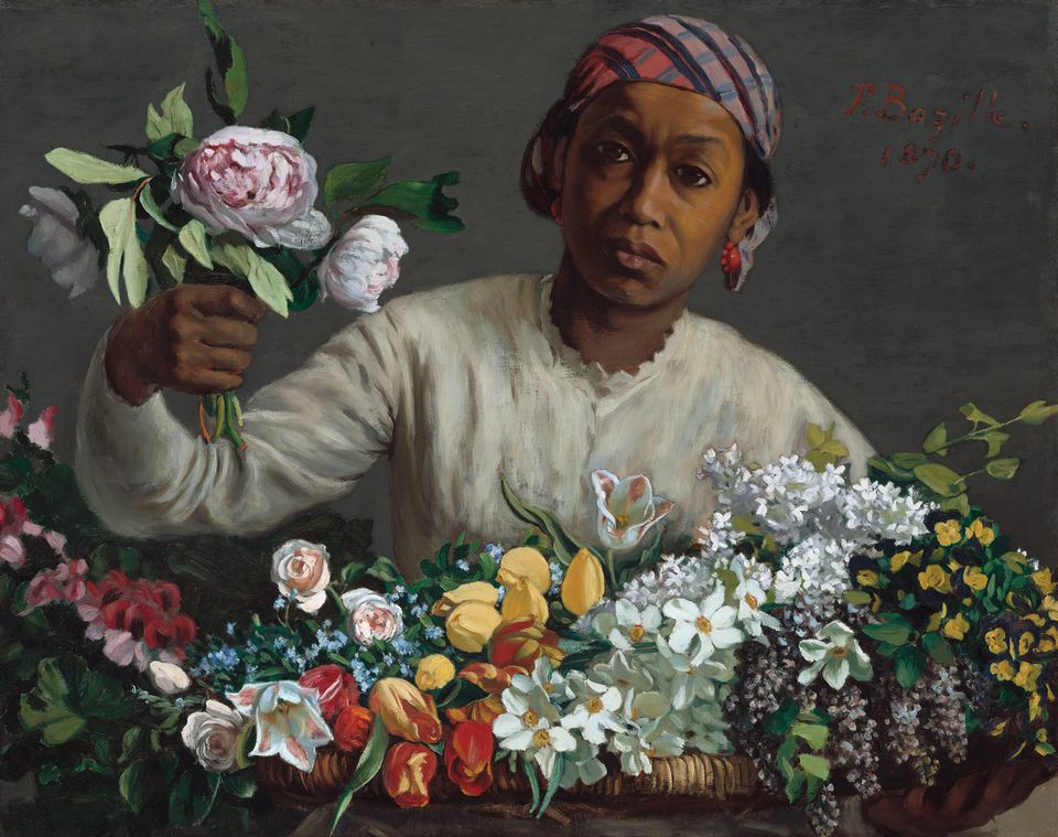 Frédéric Bazille's Young Woman with Peonies (1870)