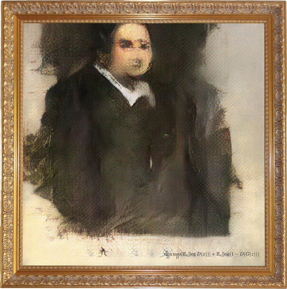 Portrait of Edmond Belamy was created using an as-yet-unrevealed source code and hits the auction block this month