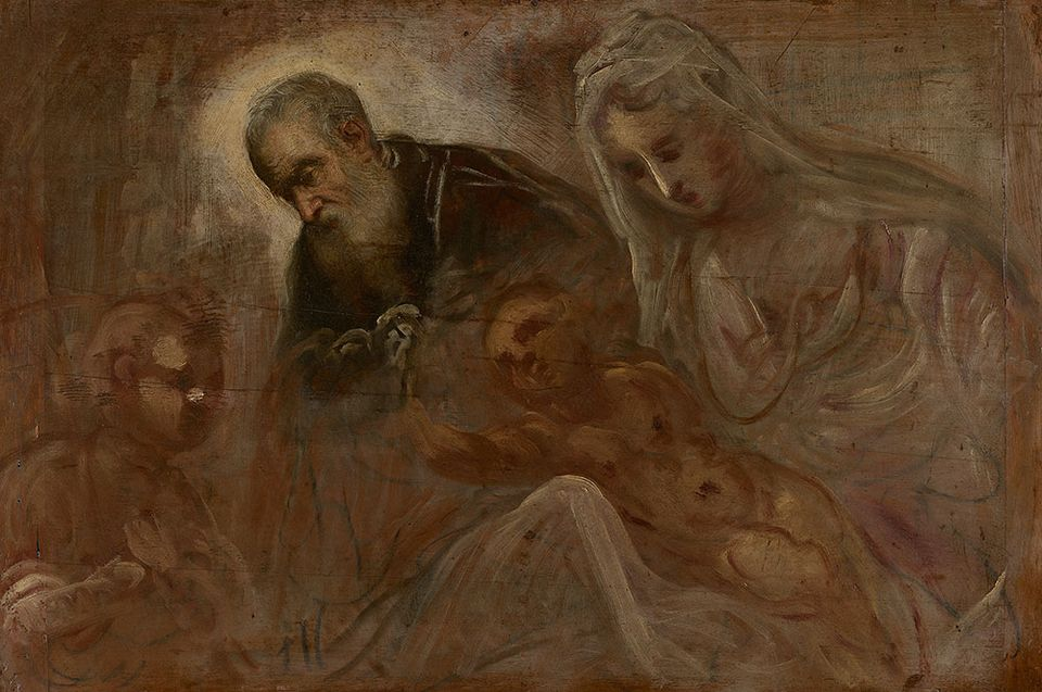 Tintoretto (1518/19–1594), Holy Family with the Young St. John, ca. 1549–50, oil on panel