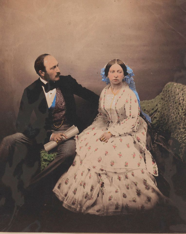 Queen Victoria and Prince Albert by Roger Fenton (1854)