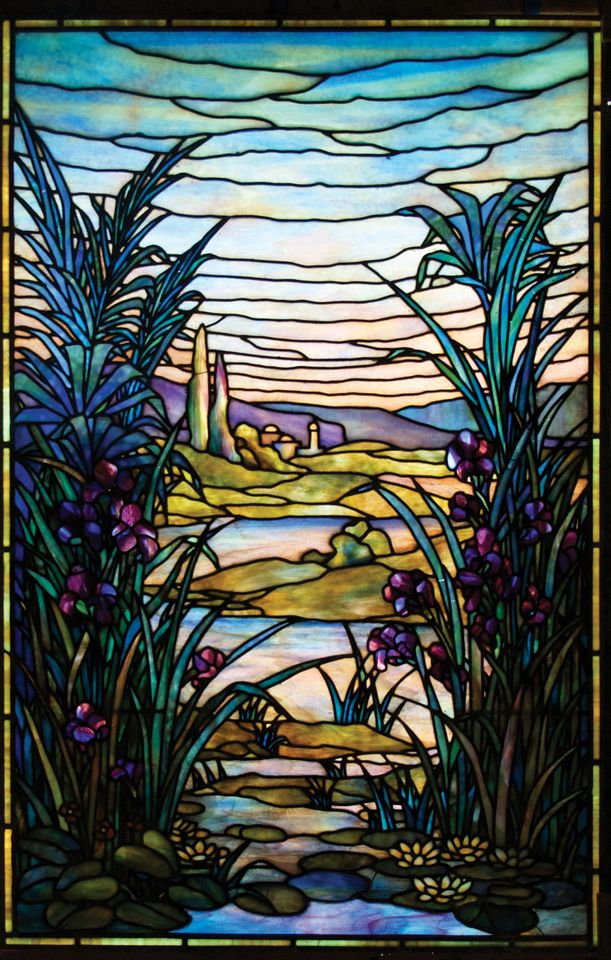 The River of Life window used only commercially made glass