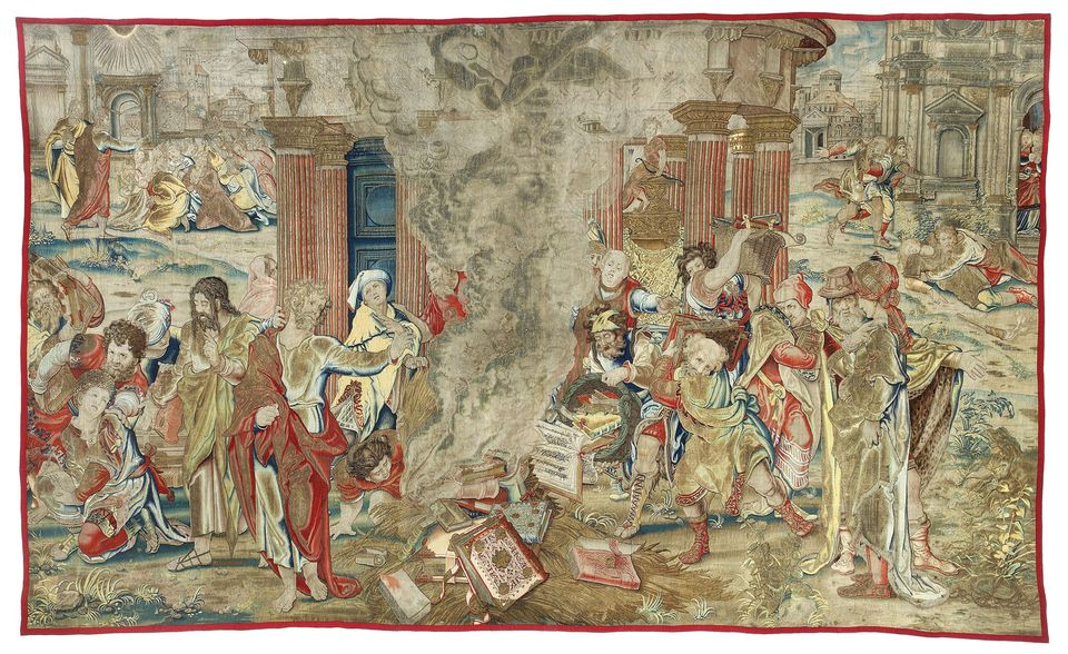 Henry VIII commissioned the tapestry during the Dissolution of the Monasteries