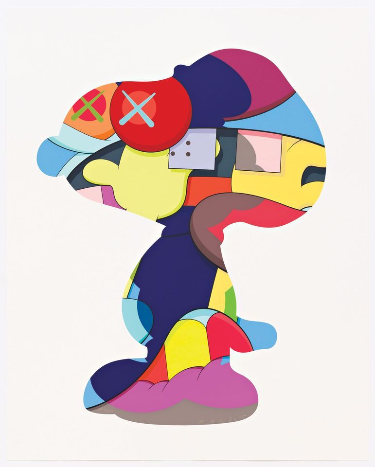 No One's Home (2015), KAWS's take on Snoopy, features in the London show
