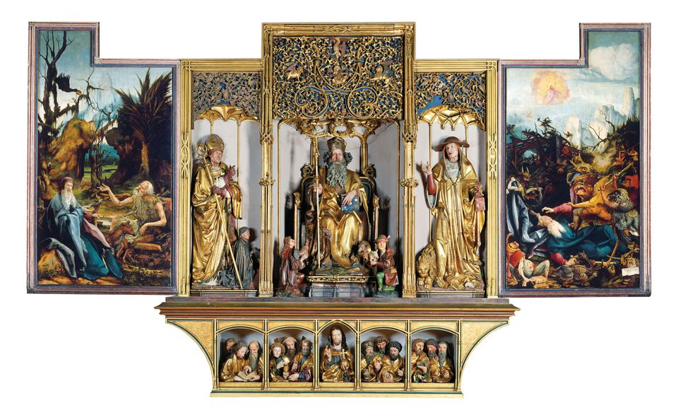 Sculptures from the altarpiece's interior have been sent to Paris