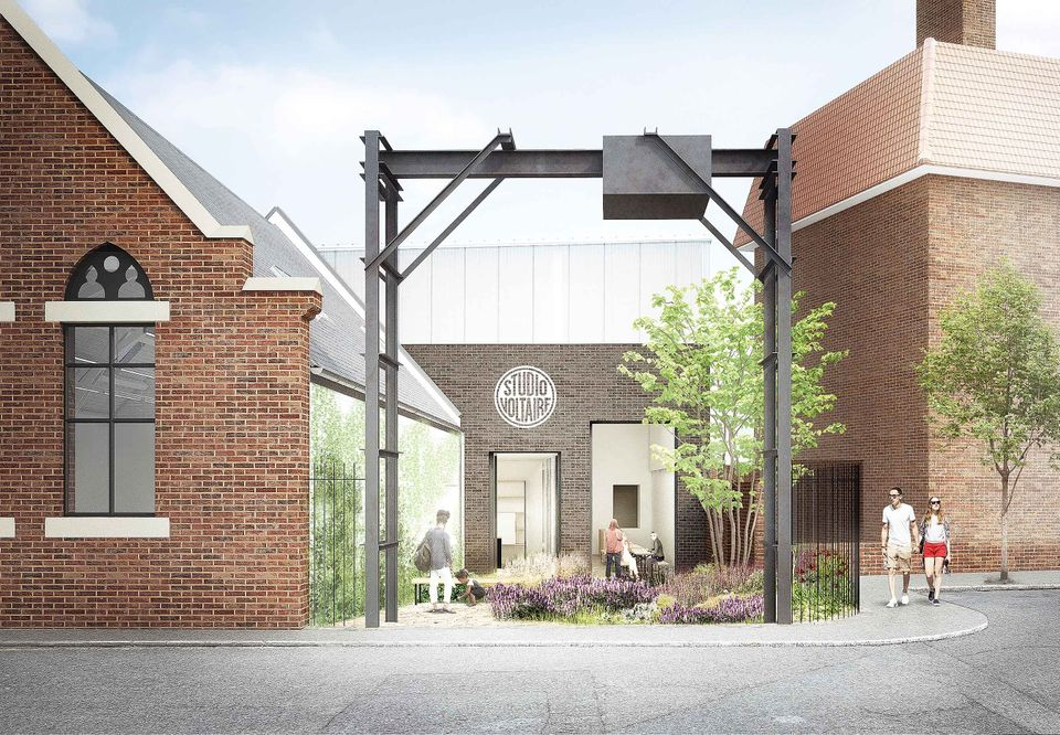 Rendering of Studio Voltaire's new public entrance, due to open in London in 2020
