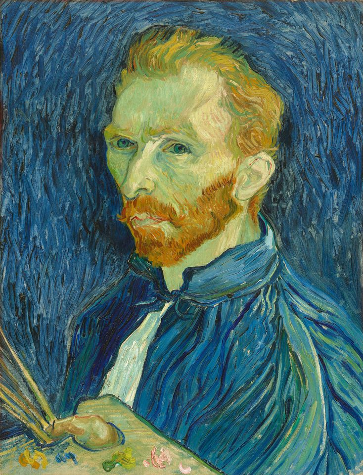 Van Gogh, Self-portrait with Palette, September 1889, National Gallery of Art, Washington, DC