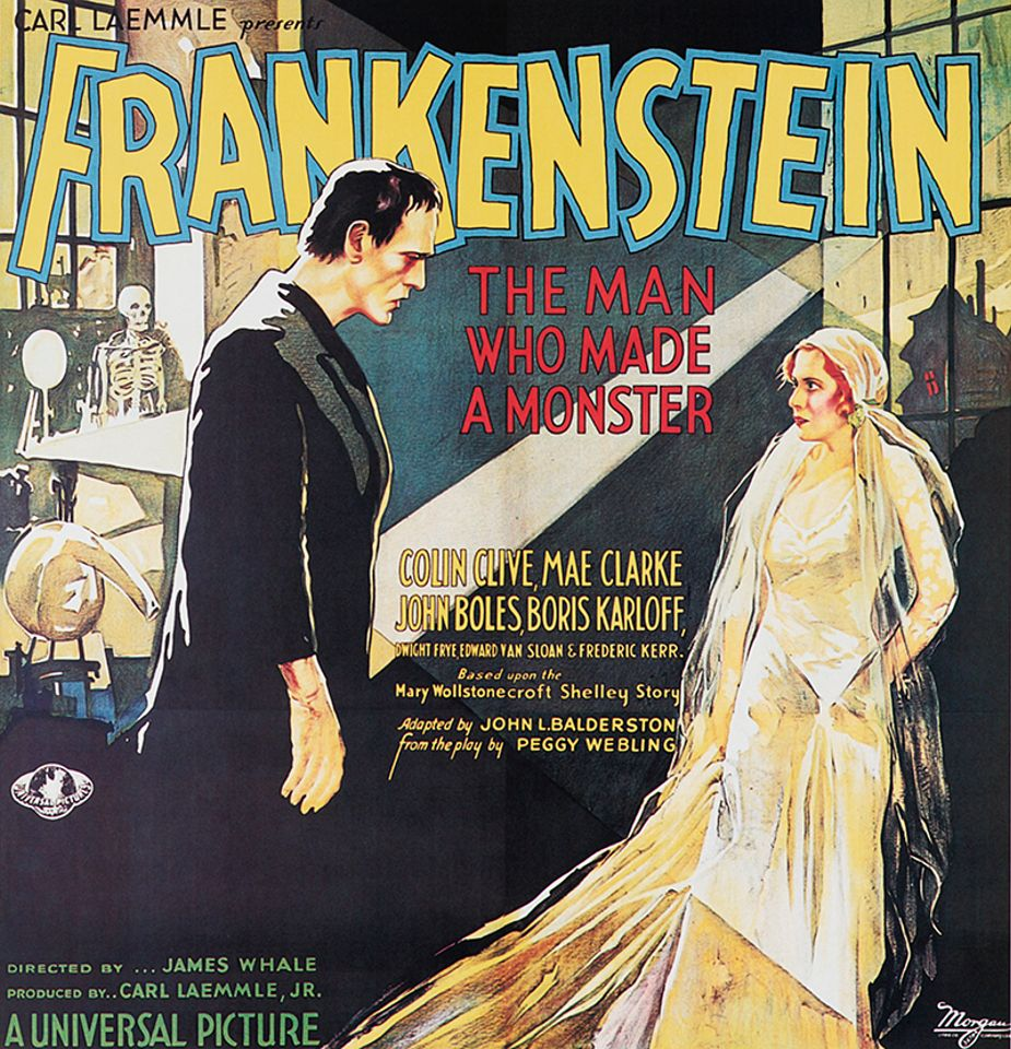 Film poster for Carl Laemmle Presents Frankenstein: the Man who Made a Monster (1931) from the collection of Stephen Fishler