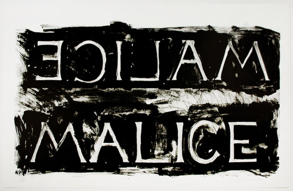 Bruce Nauman, Malice (1980) offered by Brooke Alexander at the IFPDA