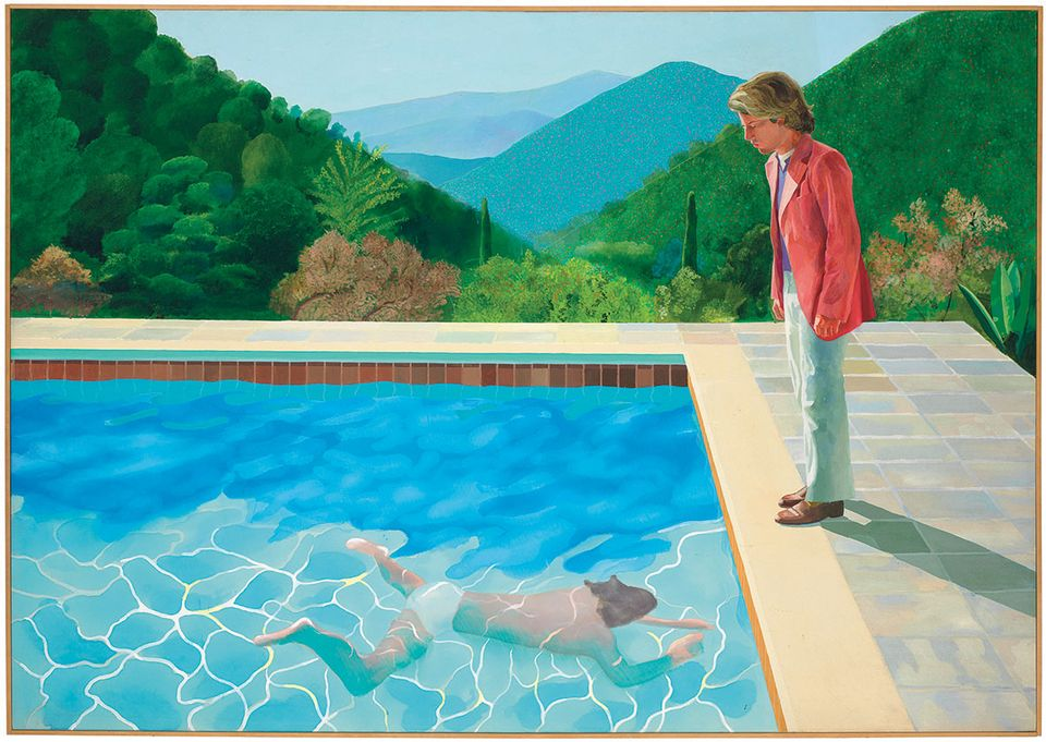 Hockney's Portrait of an Artist (Pool with Two Figures) carries an $80m estimate