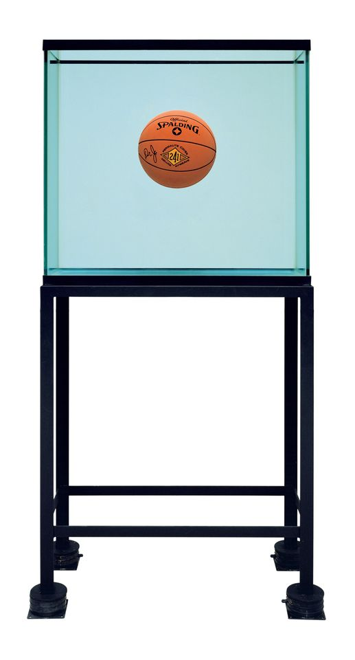 Jeff Koons's One Ball Total Equilibrium Tank (Spalding Dr. J 241 Series) (1985)