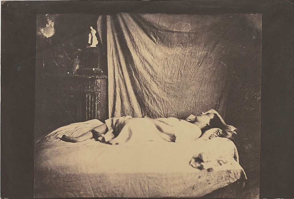 "Charles Nègre, Model reclining, (around 1849-1850) Photographs, Phillips, London, 1 November, Estimate £100,000-£150,000. Hailing from the personal collection of the British dealers James and Claire Hyman, this 19th-century salt print was likely a study for Charles Nègre's painting La Lecture. James Hyman says there is ""rarity in these early French salt prints, with many of these works being unique or irreplaceable"". Indeed, the negative of the work has been lost, but five similar negatives of the same model in the artist's studio are known, one of which is in the Nègre family collection. The print was last offered by Sotheby's Paris in 2002 where it fetched £90,000, well above its high estimate of £18,000."