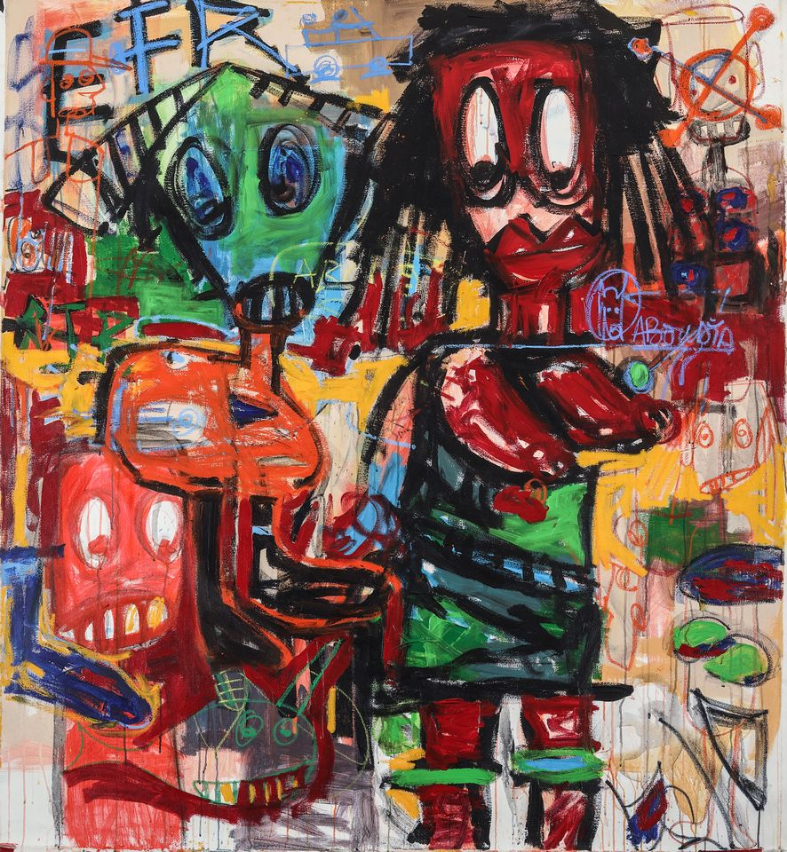 """Aboudia, Untitled (2015): Contemporary African Art, Piasa, Paris, 14 November, Estimate €12,000-€18,000. Brooklyn-based Ivorian artist Aboudia quickly garnered attention after his work was included in a 2011 group show at London's Saatchi Gallery and since then, """"his career has been propelled in Europe, Africa and the US"""", says Piasa's head of contemporary African art, Christophe Person. The hammer price for this work could be propelled by the fact that the auction house organised an exhibition of 20 new paintings last year that sold out two weeks before the opening of the show and, just last month, Bonhams London set the record for the artist with an oil and crayon collage on canvas that made £25,000 (est £10,000-£15,000)."""