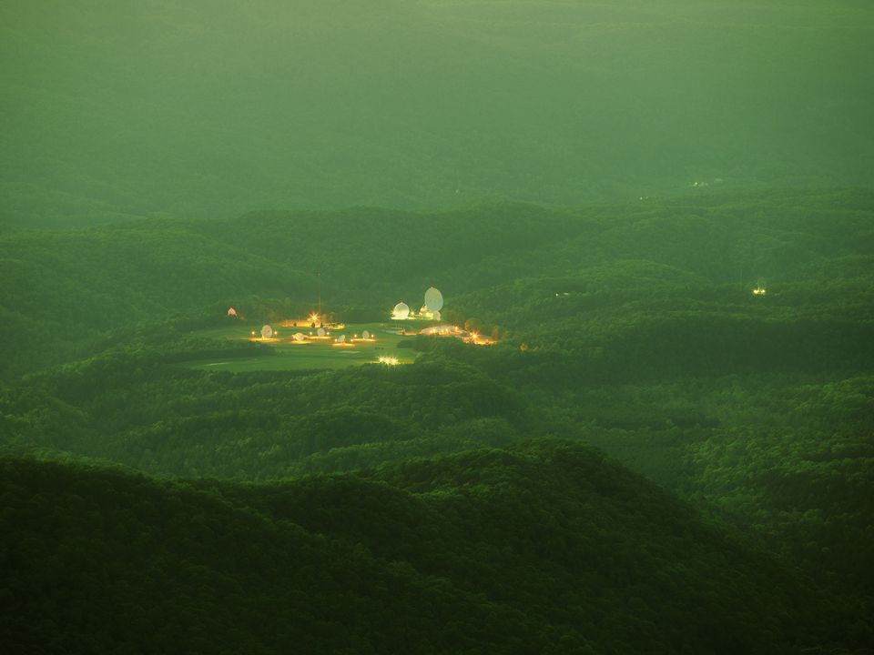 Meanwhile, the US artist Trevor Paglen presents works from two ongoing series Limit Telephotography (2005-ongoing) and The Other Night Sky (2007-ongoing). In the former, Paglen was able to photograph areas ordinarily restricted to regular civilians, such as covert military bases, by using high powered telescopic lenses; while the latter series documents and tracks military satellites and other obscure objects in the Earth's orbit.