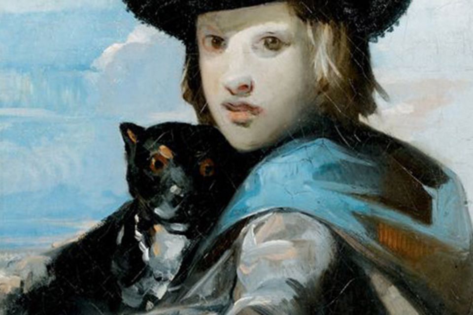The 19th-century painting of a young man and a dog in Pierre Bergé's collection was pulled at the last minute