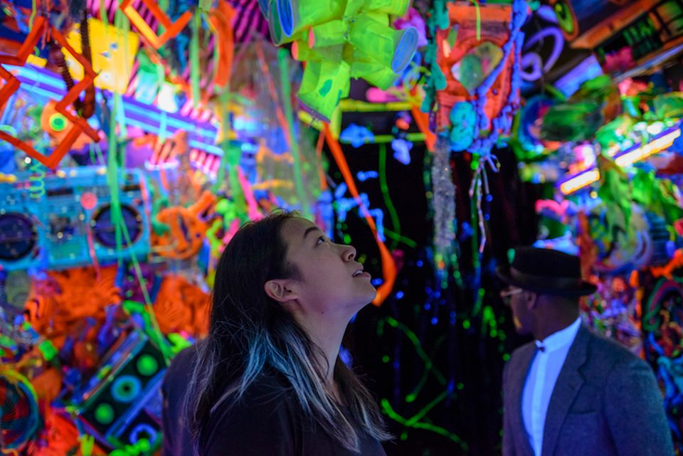 Kenny Scharf's Cosmic Cavern (2015) at the Portland Art Museum, one of the museums participating in the AAMD's paid internship project