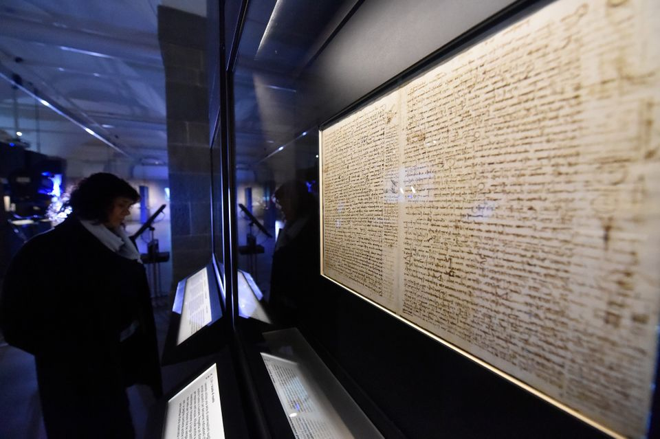 The 72-page Codex Leicester (1504-08) is on loan from the Microsoft billionaire Bill Gates