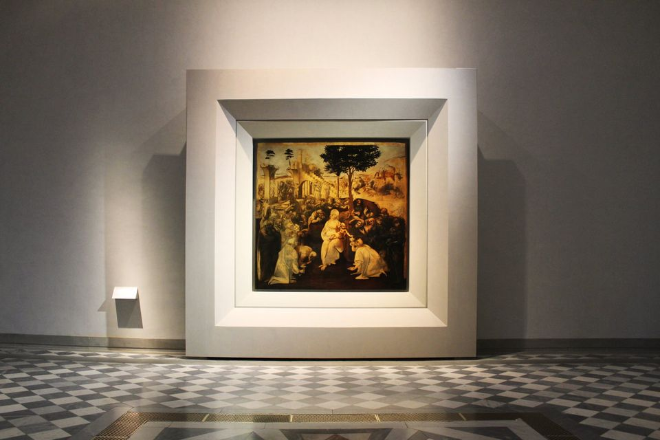 The Uffizi recently moved Leonardo's Adoration of the Magi (around 1482) to a new permanent gallery