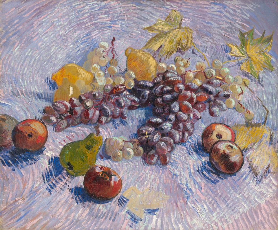 Grapes, Lemons, Pears, and Apples, autumn 1887, Art Institute of Chicago