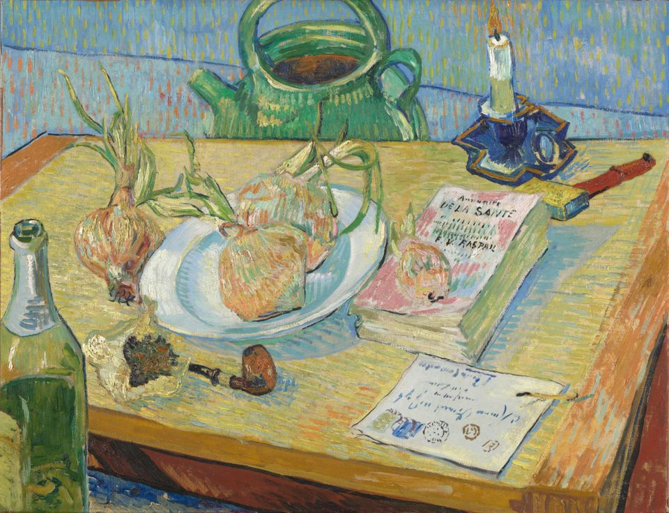 Van Gogh, Still life with a Plate of Onions, January 1889, Kröller-Müller Museum, Otterlo