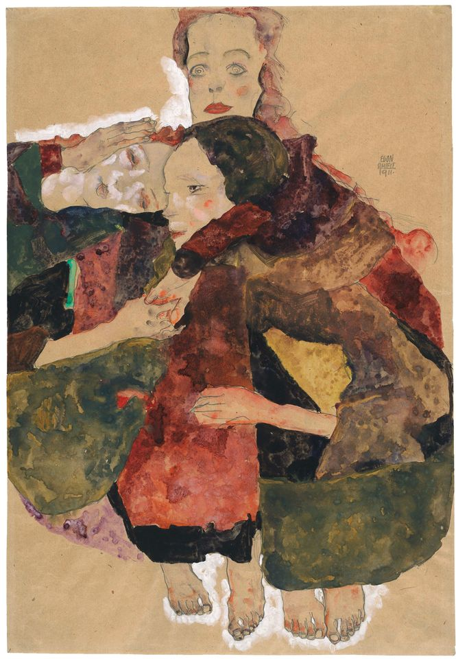 Egon Schiele's Group of Three Girls (1911)