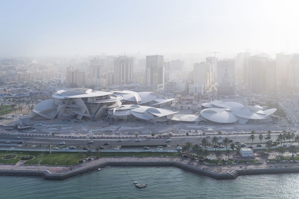 An arial  view  of  the  future  National  Museum  of  Qatar  designed by Atelier Jean Nouvel