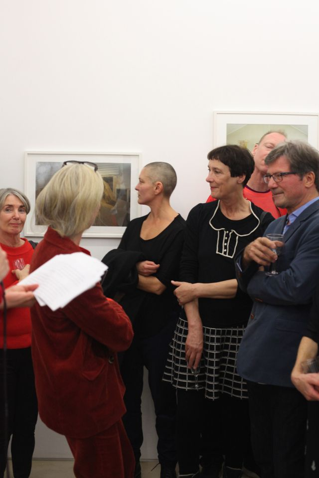 Artists including Cornelia Parker were out in force to support Swenson's tenure at Peer