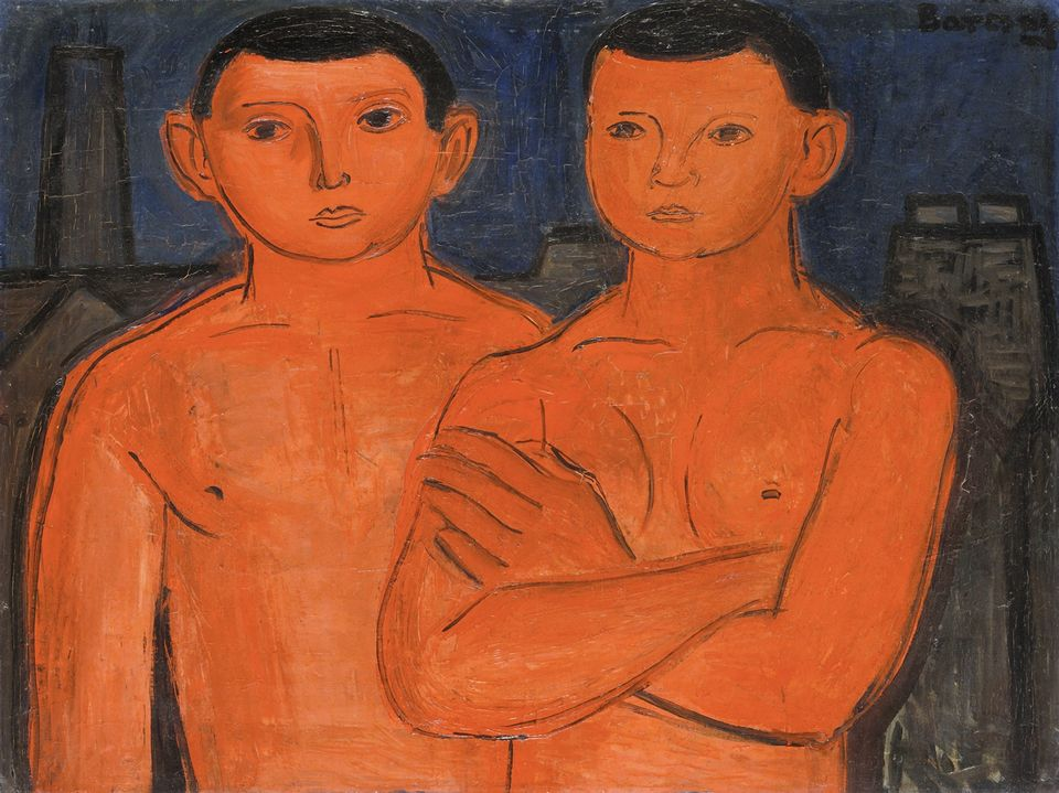 Jenő Barcsay's, Rote Jungen (Arbeiter) – Red Lads (Workers) -  (around 1928)