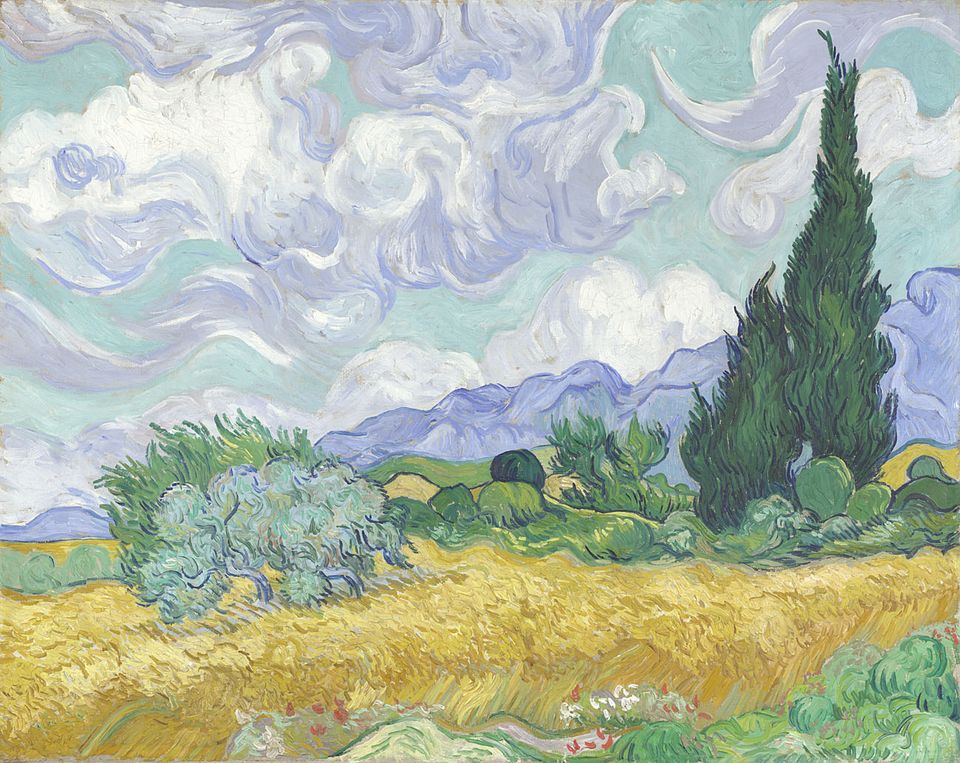 Wheatfield with Cypresses, August 1888, National Gallery, London
