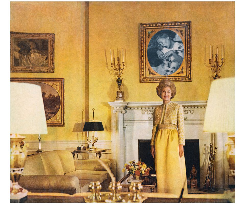 Martha Rosler, First Lady (Pat Nixon), from the series House Beautiful: Bringing the War Home, c. 1967-72, photomontage Artwork