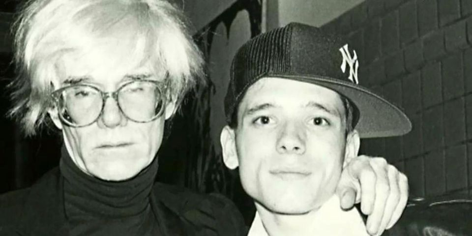 Andy Warhol with a young Jeremy Deller