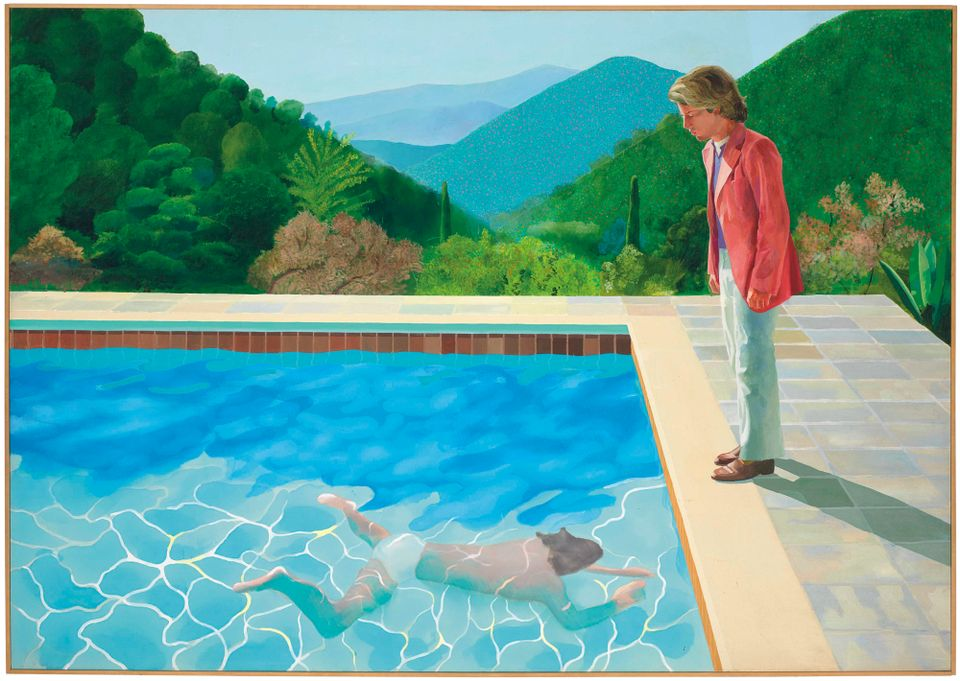Portrait of an Artist (Pool with Two Figures, 1972), touted as the holy grail of David Hockney's paintings, sold for $80m ($90.3m with fees)