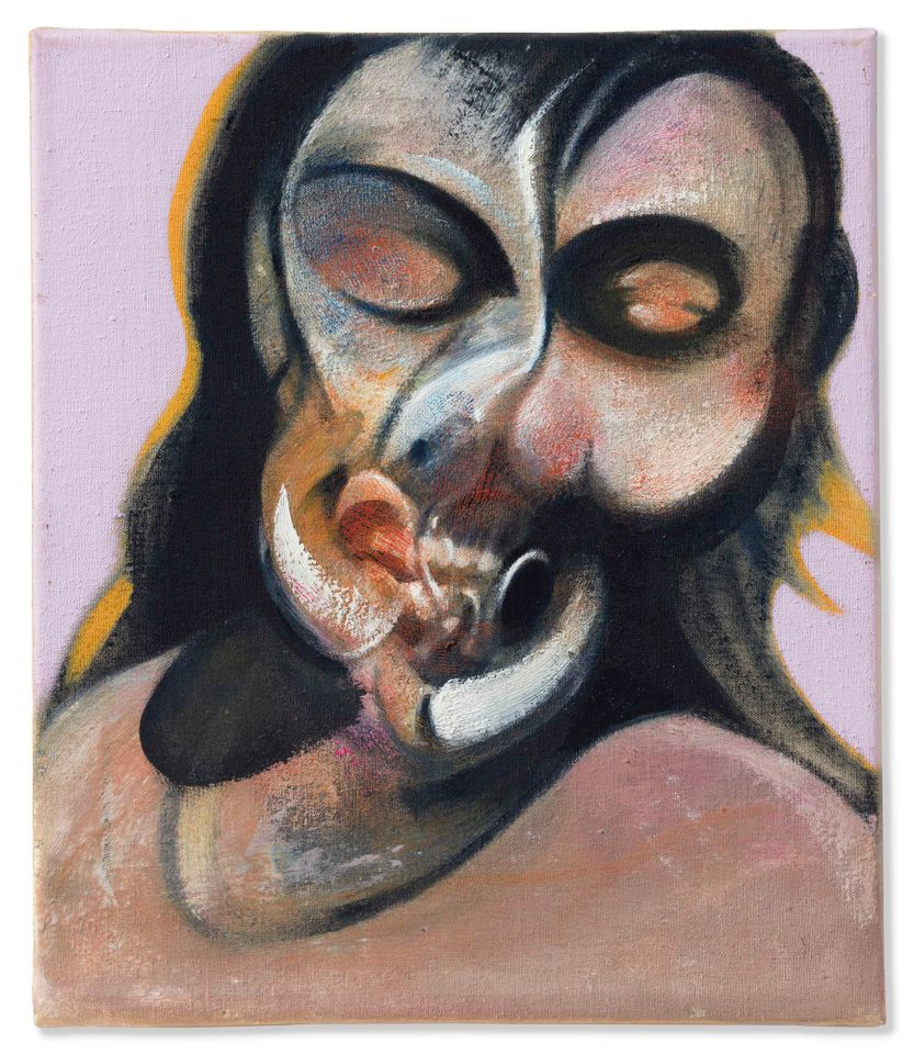 Francis Bacon's Study of Henrietta Moraes Laughing, from the collection of magazine magnate S.I. Newhouse
