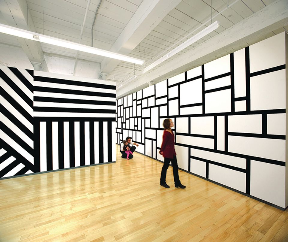 Sol LeWitt's Wall Drawings #631, #630, and #614 at Mass Moca