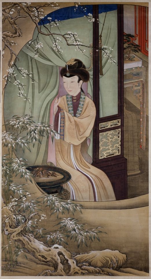 A hanging scroll by 17th or 18th century court painters in Beijing