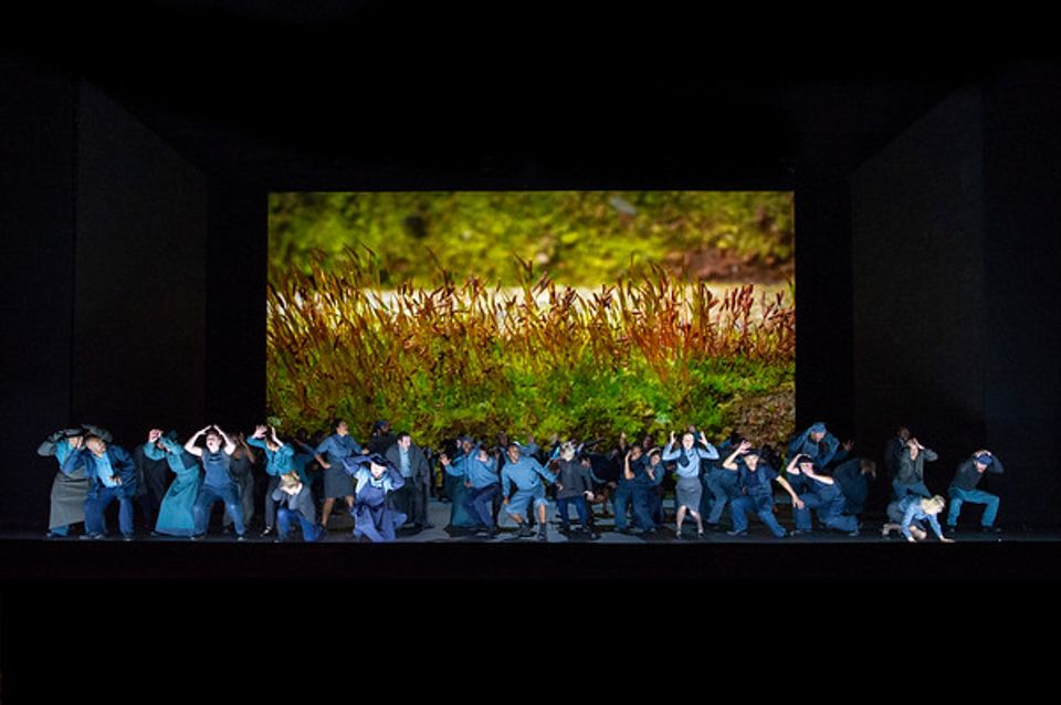 """""""It was really important to me to respect the fact that this piece of music was conceived, written and composed as a requiem, not an opera,"""" Tillmans told The Times newspaper. """"Opera takes such liberties. I felt that it was important to stay close to circumstances that can be visually recognised as having something to do with the piece."""" His design incorporates projections of moss-covered stones and swamps."""