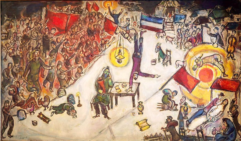 Marc Chagall's La Revolution, one of the paintings allegedly sold by Matthew Green