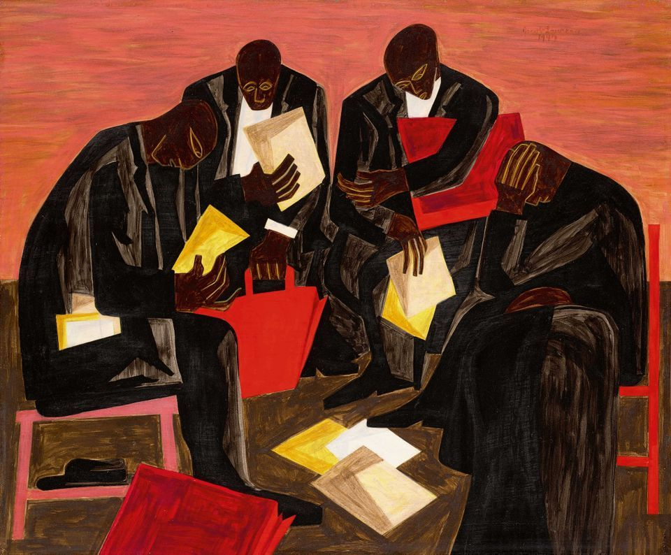Jacob Lawrence's The Businessmen (1947)