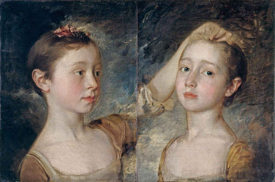 Mary and Margaret Gainsborough, the Artist's Daughters (around 1760-61) by Thomas Gainsborough is on show at the National Portrait Gallery